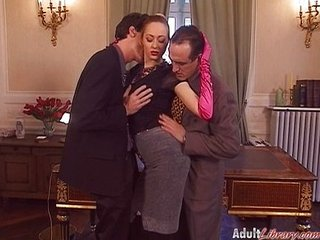 German Milf Boss fucked in Office